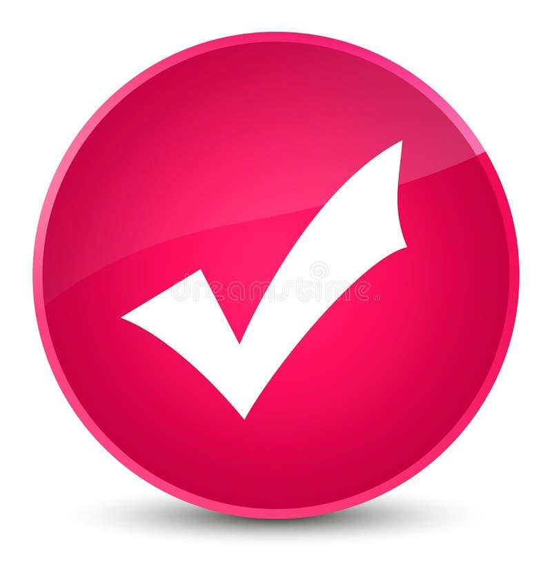 Validation icon elegant pink round button stock illustration