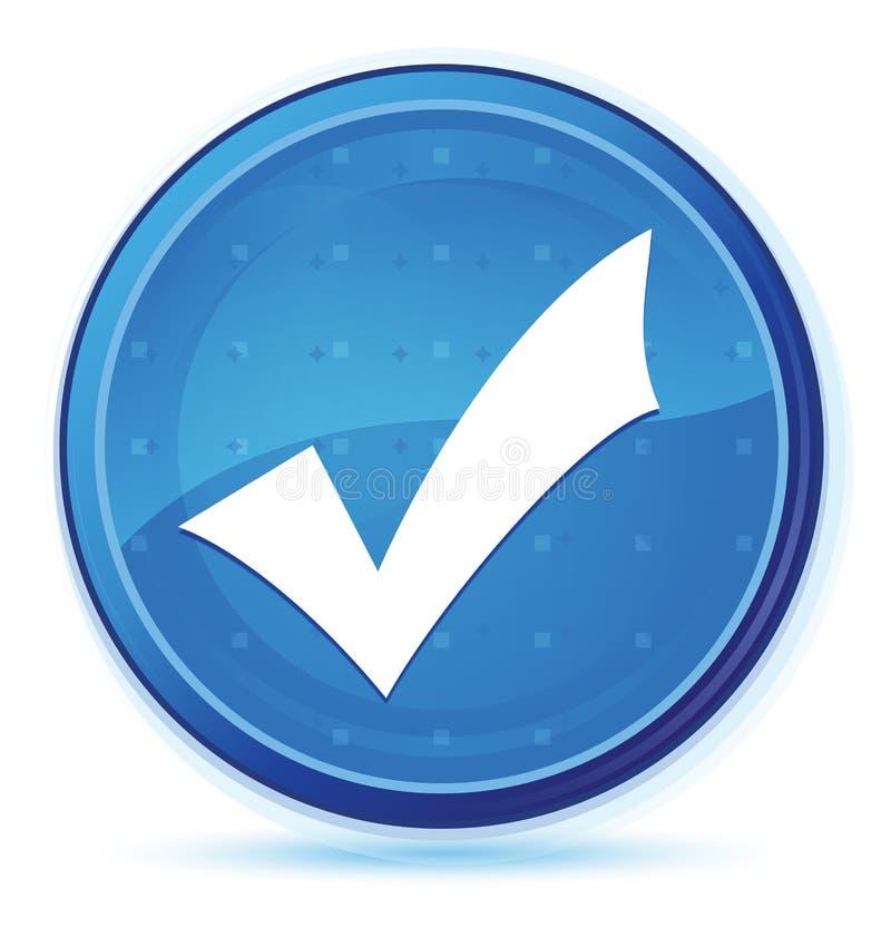 Validation icon midnight blue prime round button stock illustration