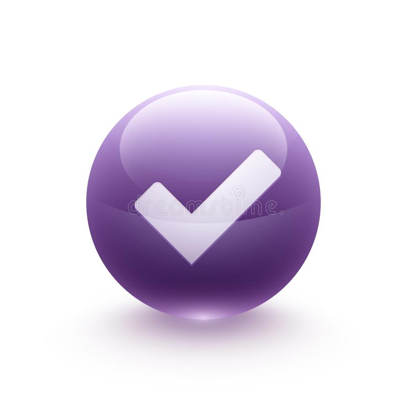 Validation icon sphere vector illustration