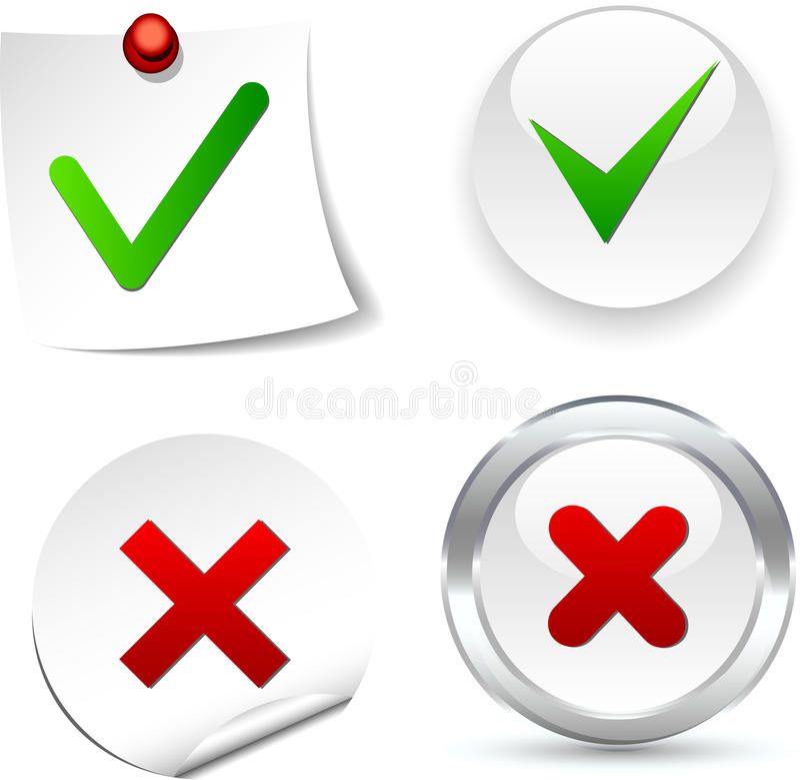 Validation Icons. stock illustration