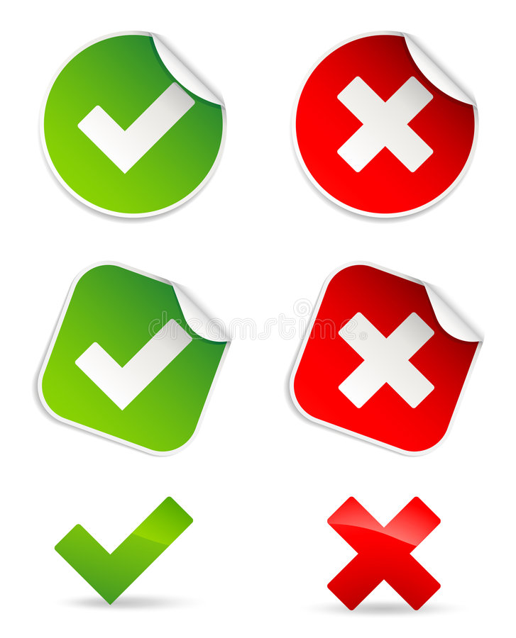 Free Validation Icons Royalty Free Stock Photo - 7620605