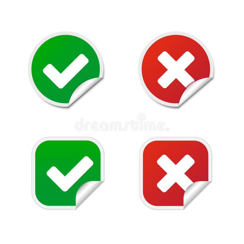 Validation Labels Royalty Free Stock Photography