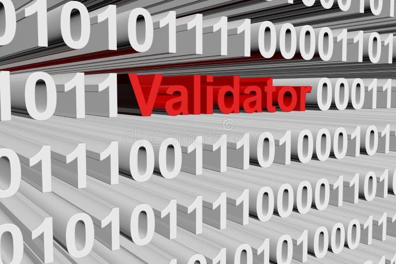 Validator ilustração stock