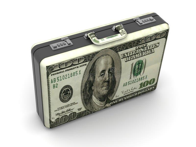 Valigia con i dollari. illustrazione vettoriale