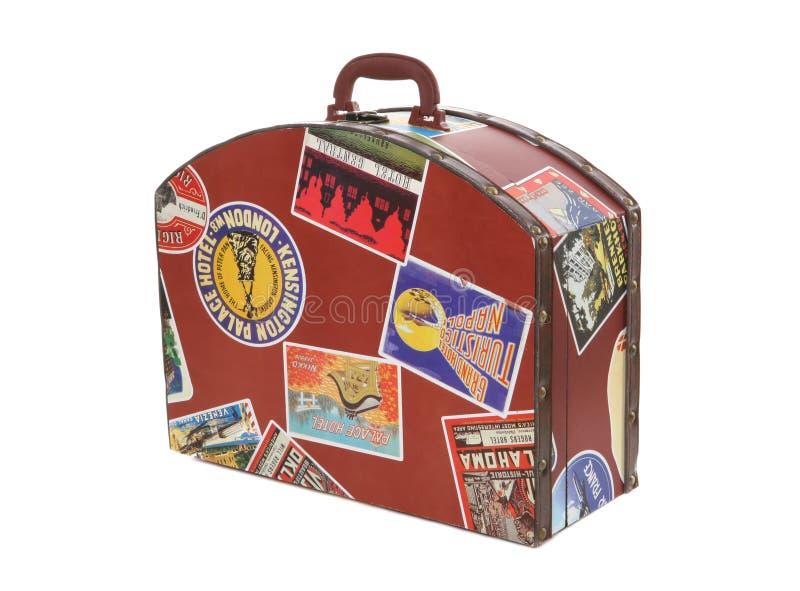 Valigia dei viaggiatori di mondo immagine stock