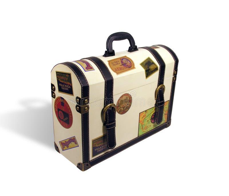 Valigia dei viaggiatori di mondo fotografia stock