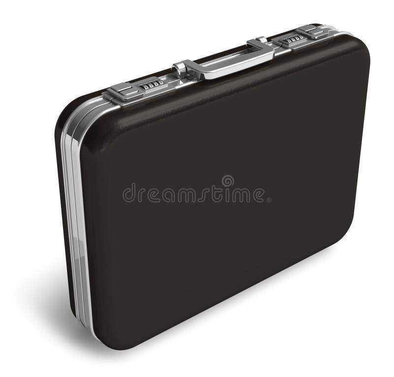 Valigia di cuoio nera illustrazione di stock