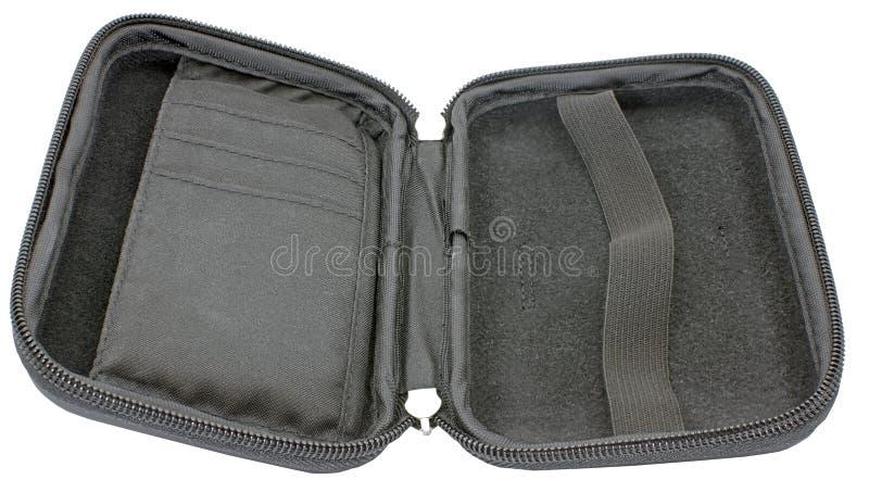 Valigia esterna del disco rigido immagini stock