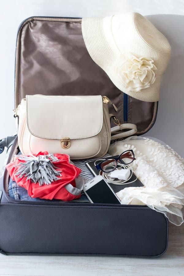 Valigia per viaggiare immagine stock