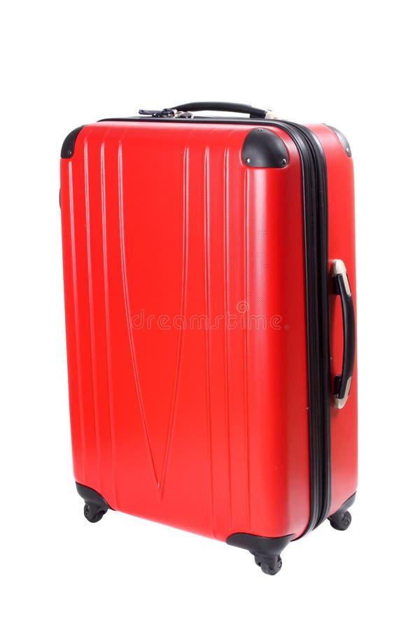 Valigia rossa isolata immagine stock libera da diritti