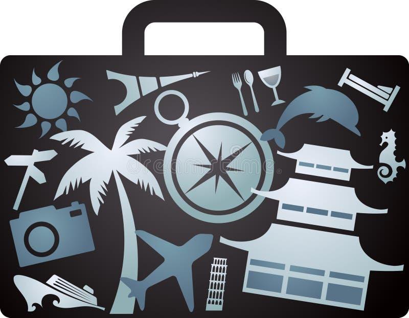 Valigia turistica fatta i raggi x di royalty illustrazione gratis