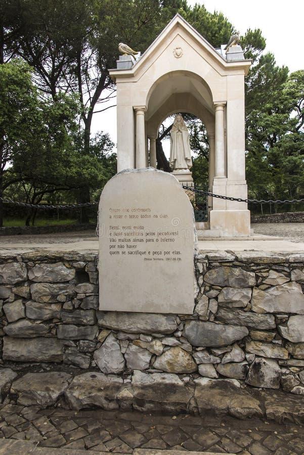 Valinhos perto de Fatima, lugar da quarta aparição de nossa senhora 19 de agosto de 1917 shepherds imagens de stock royalty free