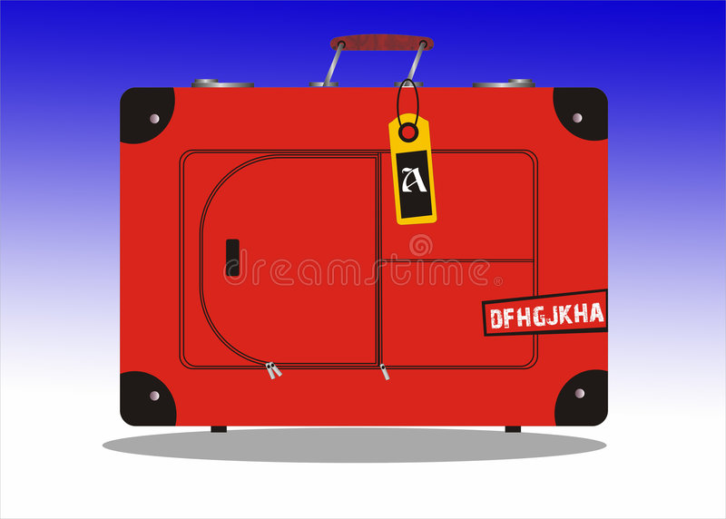 valise illustration stock
