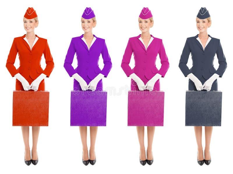 valise avec du charme d 39 in uniform with d 39 h tesse variantes de couleur photo stock image du. Black Bedroom Furniture Sets. Home Design Ideas