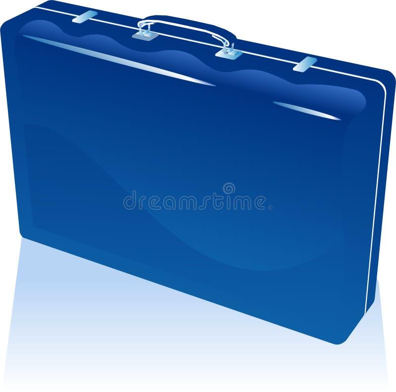 valise bleue illustration libre de droits