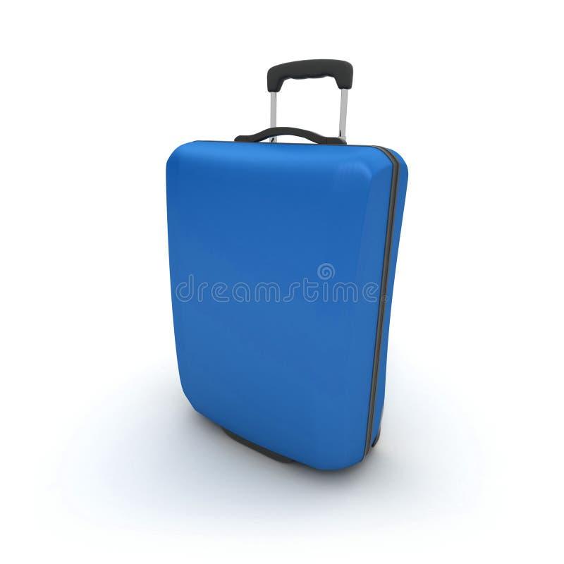 Valise bleue de chariot illustration stock