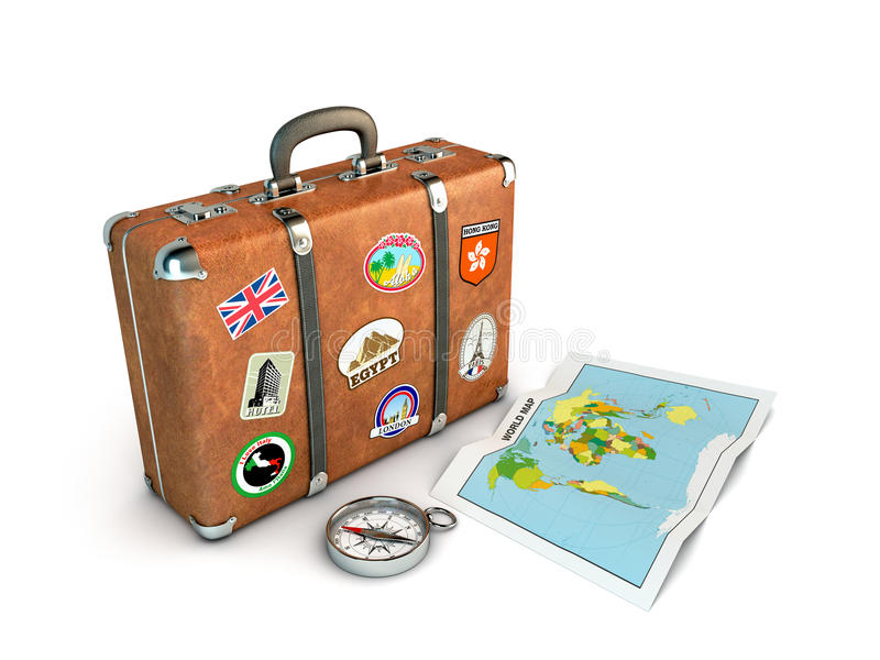 Valise de course illustration libre de droits