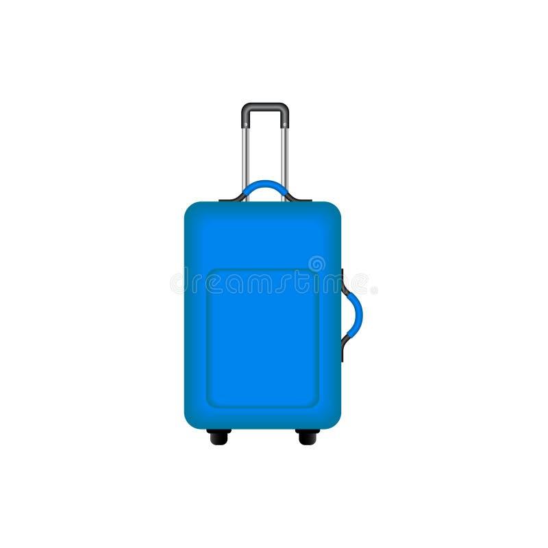 Valise de voyage dans la conception bleue illustration libre de droits
