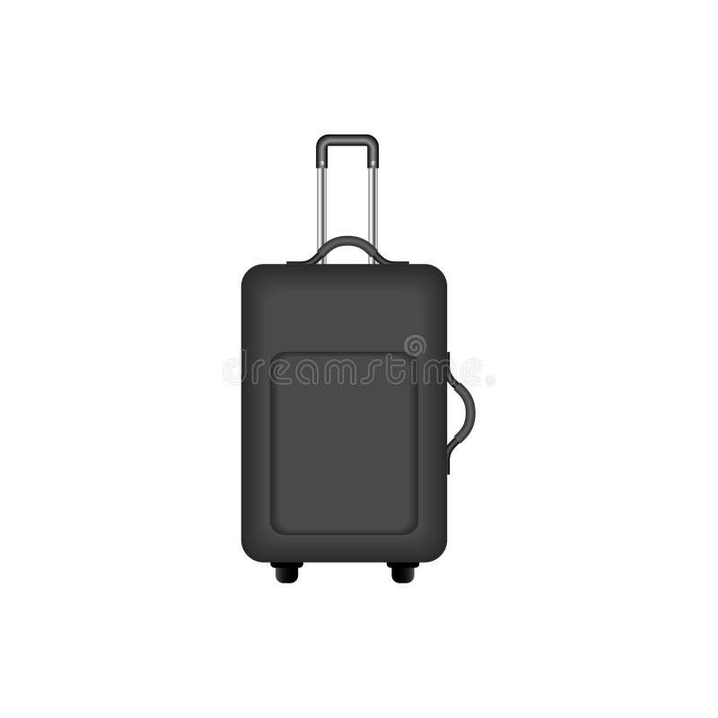 Valise de voyage dans la conception noire illustration de vecteur