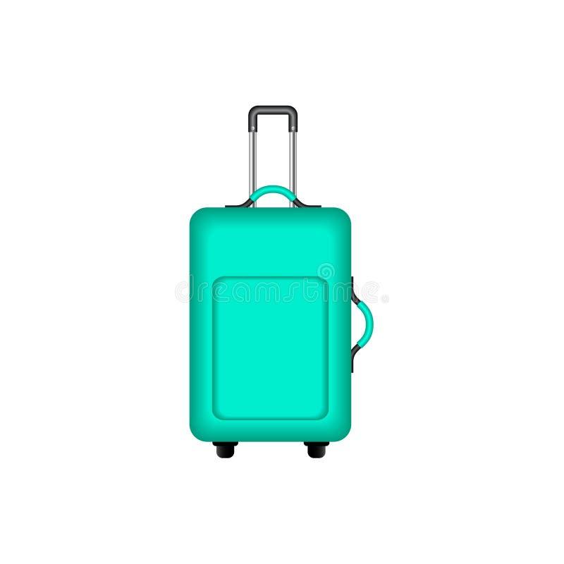 Valise de voyage dans la conception de turquoise illustration libre de droits