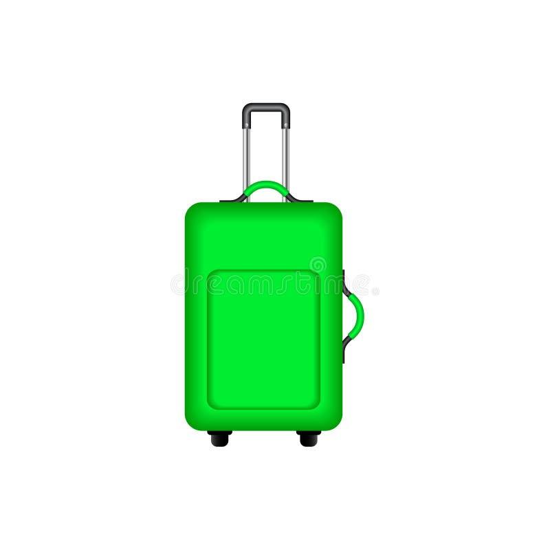 Valise de voyage dans la conception verte illustration de vecteur