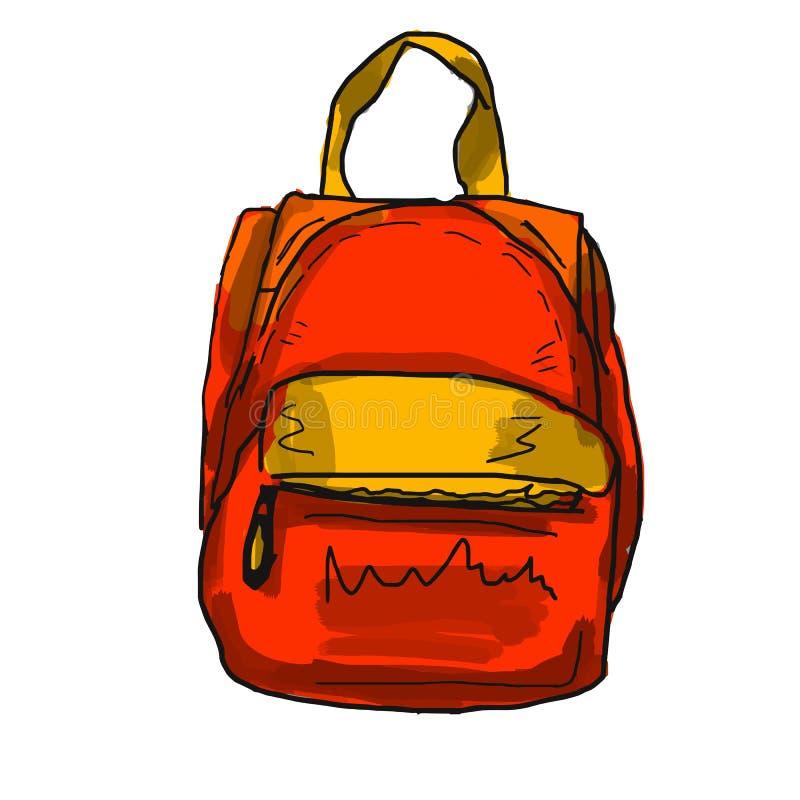 Valise de voyage, illustration de vecteur, lumineuse, concept, rouge illustration stock