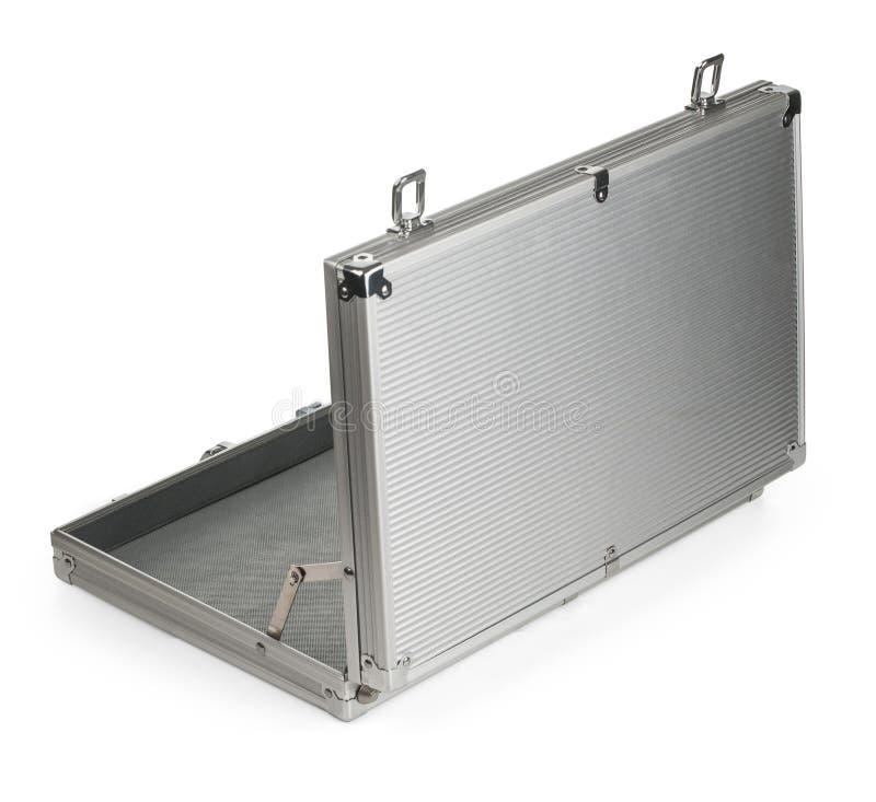 Valise en aluminium ouverte image stock image du ouvert for Prix d un conteneur vide