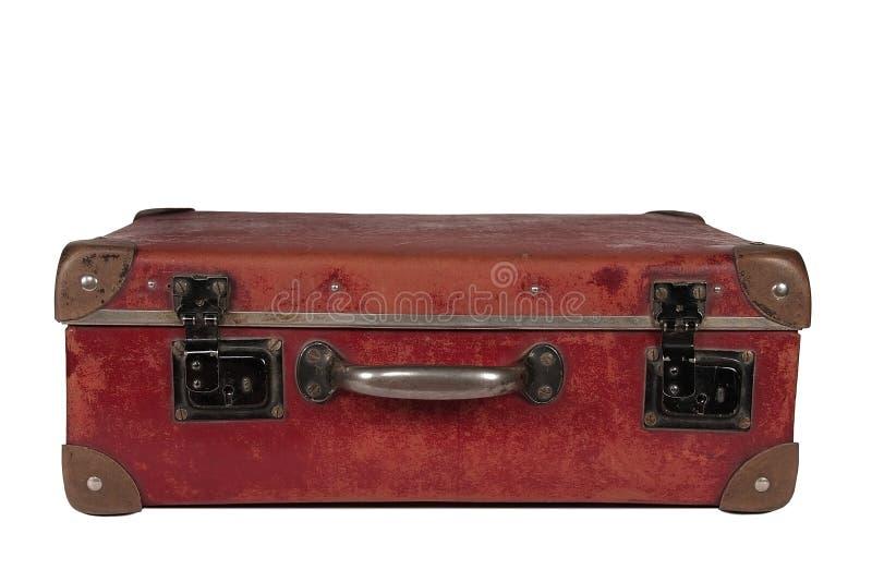 Valise en cuir photographie stock