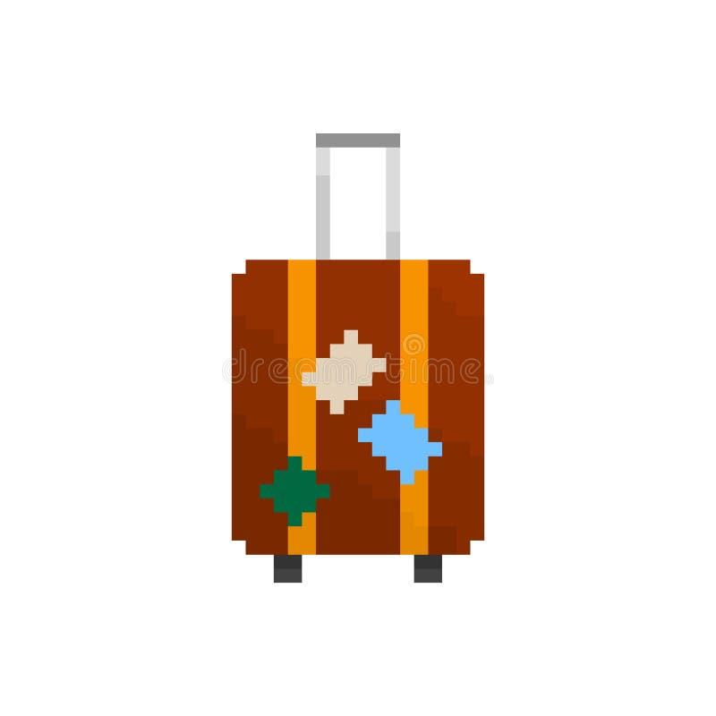 Valise Intéressante De Pixel Illustration De Vecteur