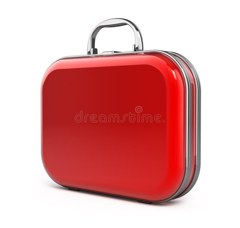 Valise rouge illustration de vecteur