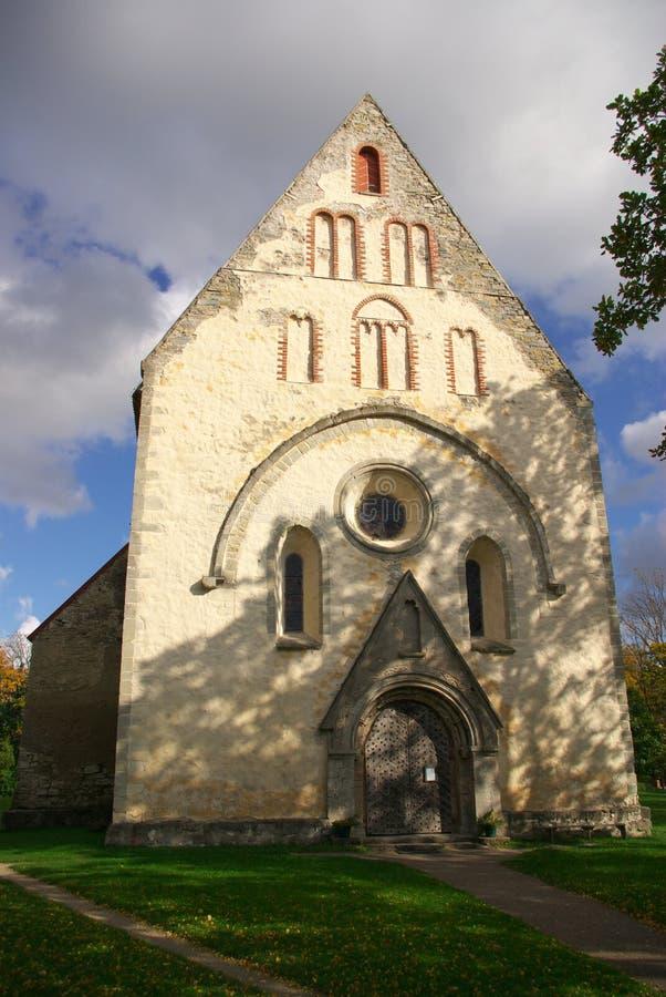 valjala церков средневековое стоковая фотография