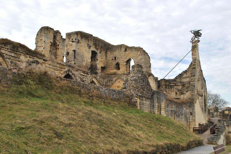 Valkenburg castle ruin. The Valkenburg castle ruin, Limburg, the Netherlands stock images