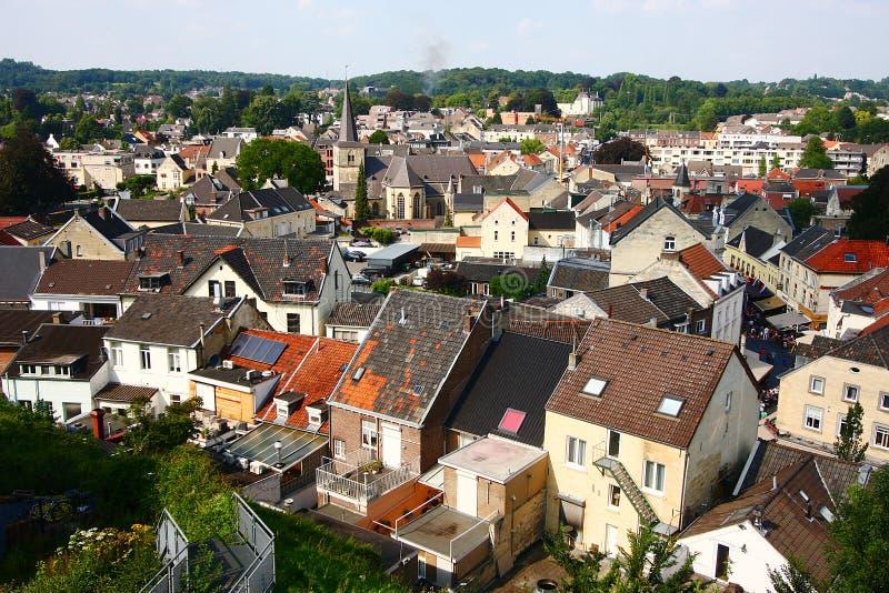 Valkenburg stad fotografering för bildbyråer