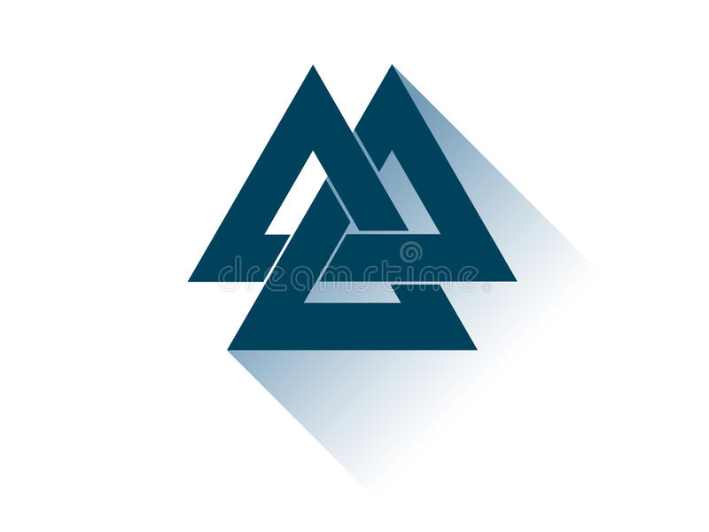 Valknut Is A Symbol Of The Worlds End Of The Tree Yggdrasil Sign Of