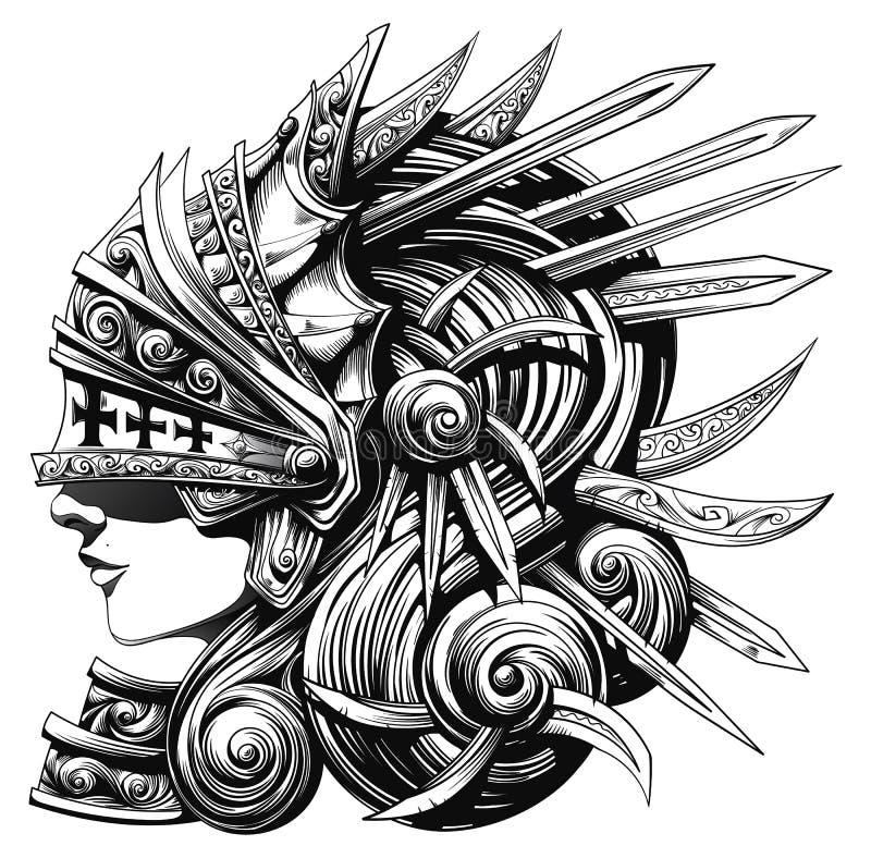 Valkyrie em Shell ilustração royalty free