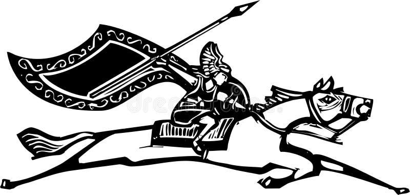 Valkyrie no cavalo ilustração do vetor