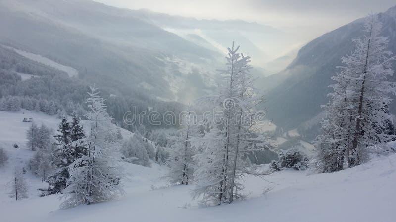 Vallée Autriche de montagne images stock