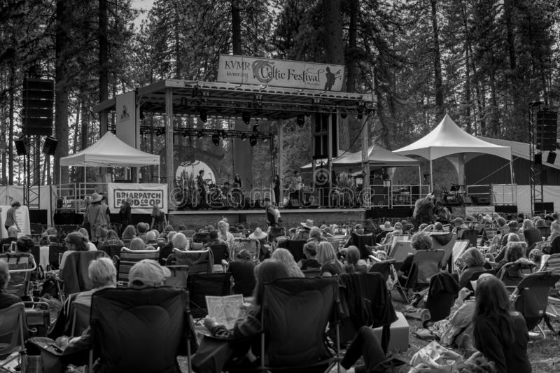 Vallée d'herbe, la Californie, Etats-Unis - 29 octobre 2018 : Festival celtique de KVMR, Nevada County Fairgrounds Fondé en 1996, photos stock
