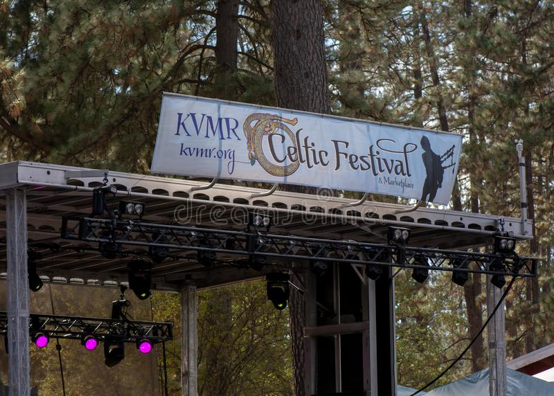 Vallée d'herbe, la Californie, Etats-Unis - 29 octobre 2018 : Festival celtique de KVMR, Nevada County Fairgrounds Fondé en 1996, image stock