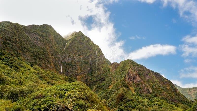 Vallée d'Iao, Maui, île hawaïenne, Etats-Unis image libre de droits
