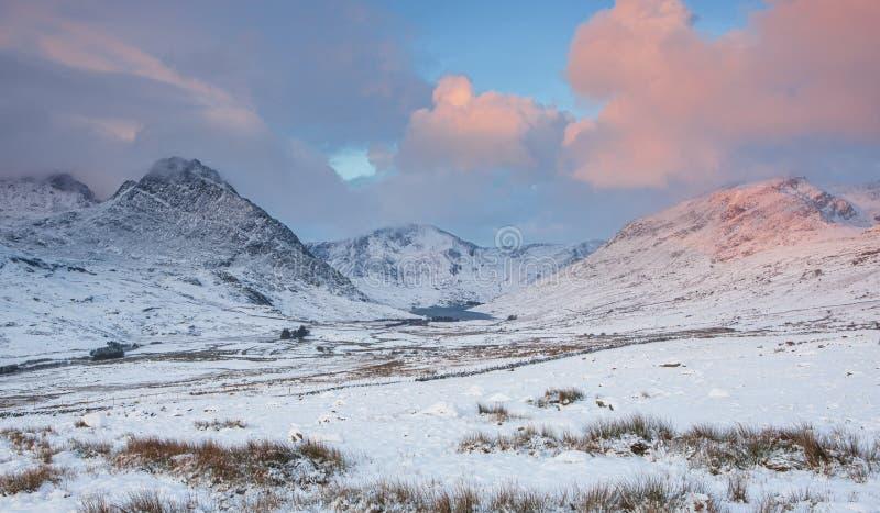 Vallée d'Ogwen - Mi-hiver photographie stock