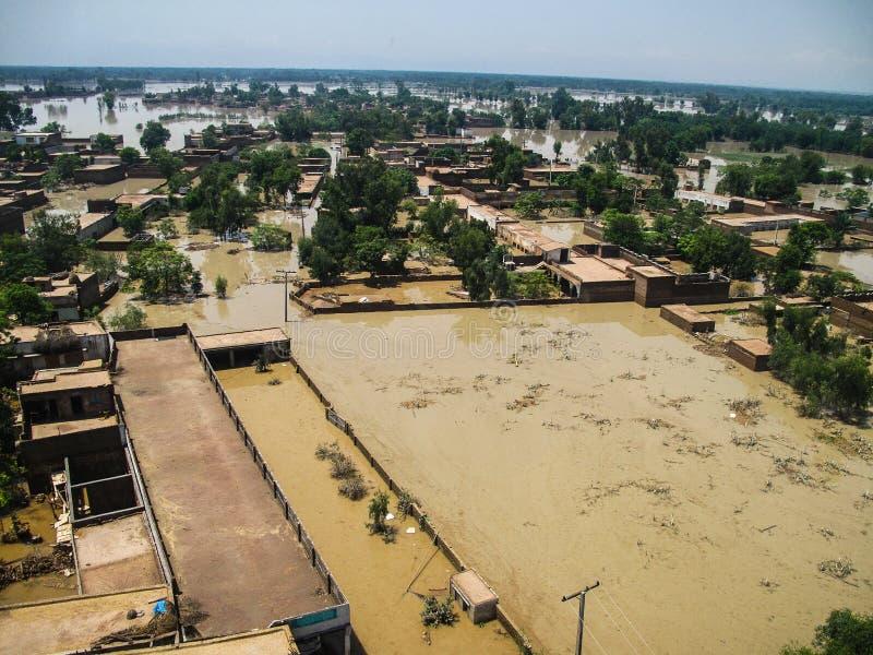 Vallée de COUP, inondations du Pakistan image libre de droits
