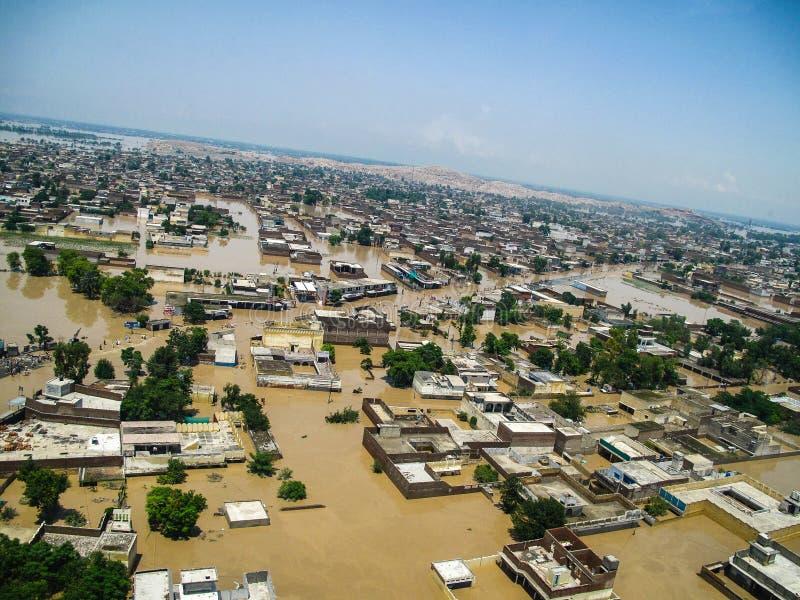 Vallée de COUP, inondations du Pakistan photo libre de droits