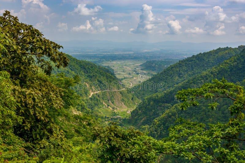 Vallée de Dang au Népal images stock