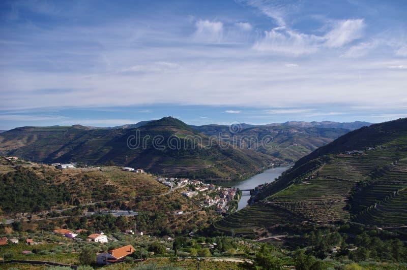 Vallée de Douro au Portugal photographie stock libre de droits