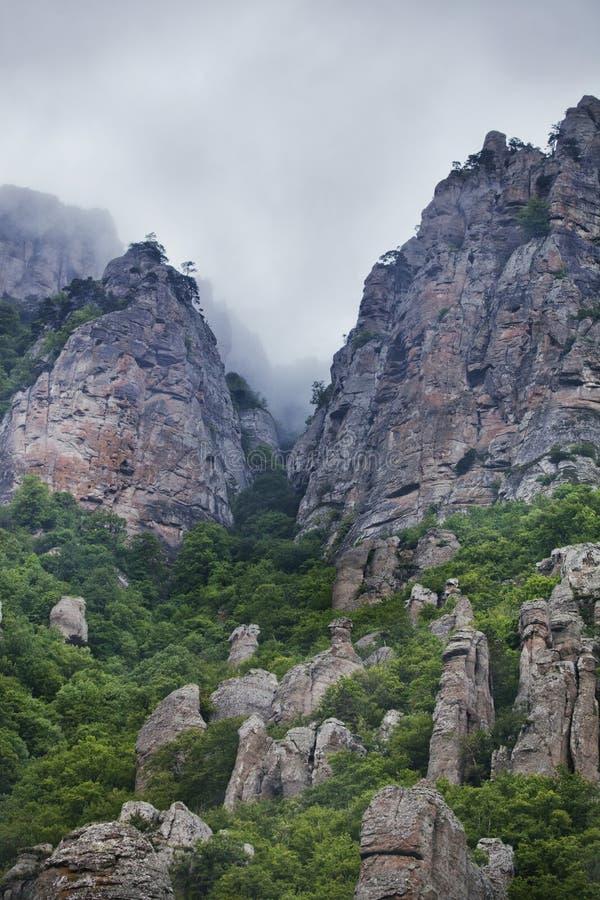 Vallée de Ghost, montagne de Demurge Horizontal de la Crimée photographie stock libre de droits