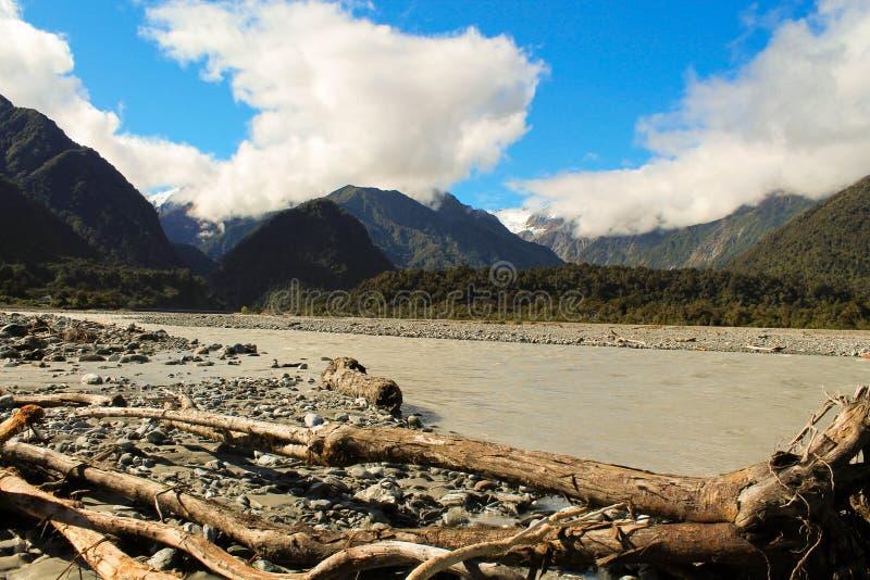 Vallée de glacier de Franz Josef photos libres de droits