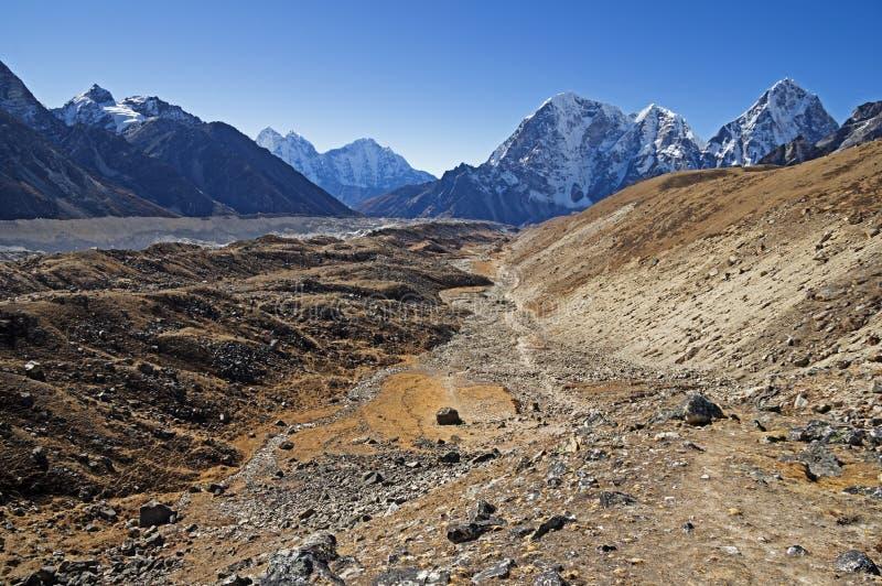 Vallée de glacier de Khumbu photo libre de droits