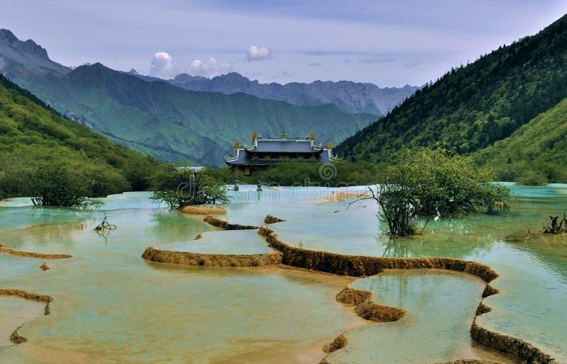 Vallée de Huanglong images libres de droits