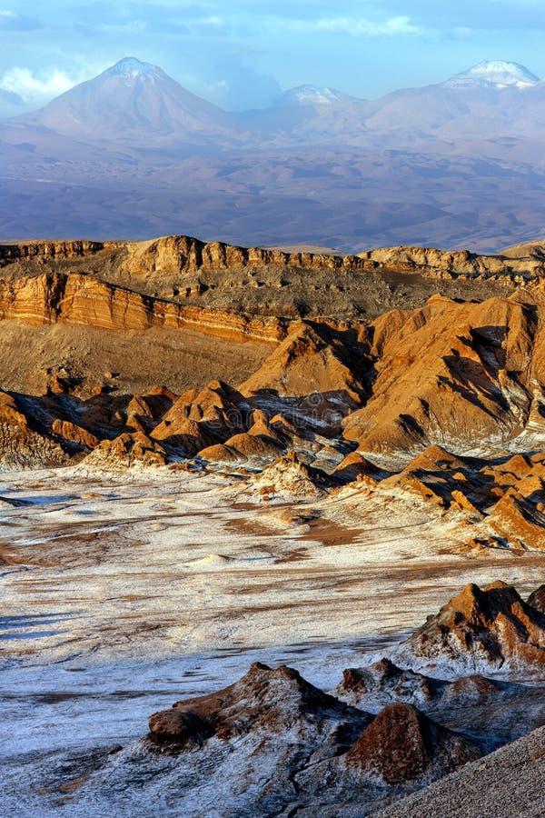 Vallée de la lune - désert d'Atacama - le Chili photos stock